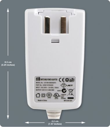 6Vdc Power Adapter Plug PA6
