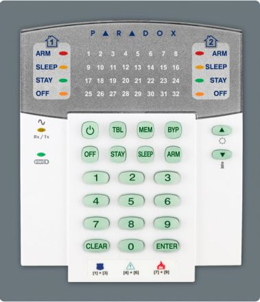32-Zone Wireless LED Keypad Module K32RF